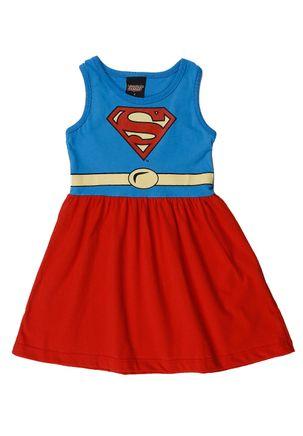 Vestido-Justice-League-Infantil-Para-Menina---Azul-vermelho