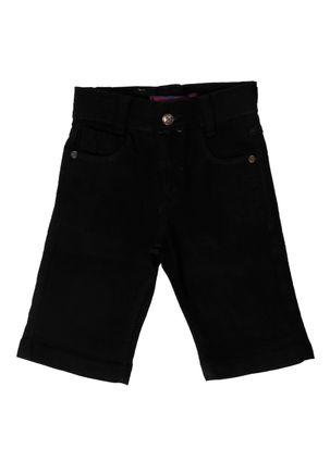 Bermuda-Jeans-Infantil-Para-Menina---Preto