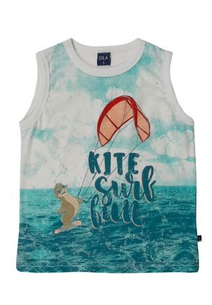 Camiseta-Regata-Infantil-Para-Menino---Bege