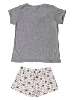 Pijama-Infantil-Para-Menina---Cinza