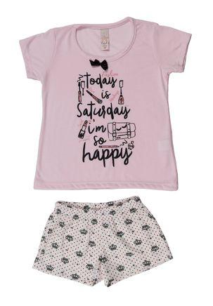 Pijama-Infantil-Para-Menina---Rosa