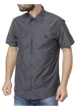 Camisa-Manga-Curta-Masculina-Cinza-escuro-
