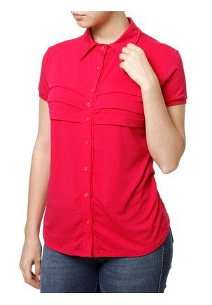 Camisa-Manga-Curta-Feminina-Rosa