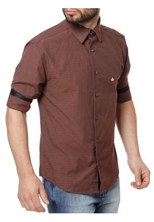 Camisa-3-4-Masculina-Vinho
