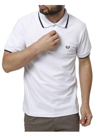 Polo-Manga-Curta-Masculina-Vilejack-Branco