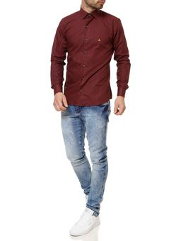 Camisa-Manga-Longa-Masculino-Urban-City-Bordo