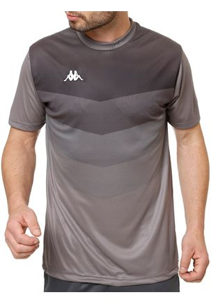 Camiseta-Esportiva-Masculina-Kappa-Cinza