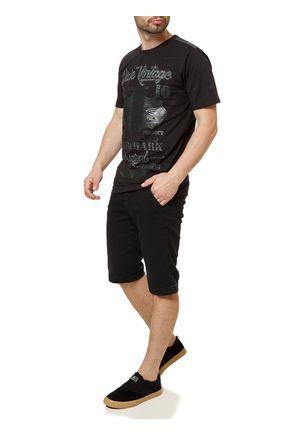 Camiseta-Manga-Curta-Masculina-Dixie-Preto