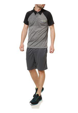 Camiseta-Polo-Esportiva-Manga-Curta-Masculina-Local-Cinza-preto