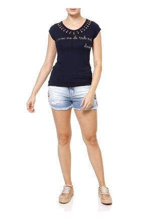 Blusa-Manga-Curta-Feminina-Azul-marinho