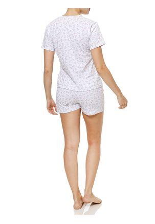 Pijama-Curto-Feminino-Cinza-claro