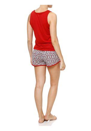 Pijama-Curto-Feminino-Vermelho-cinza