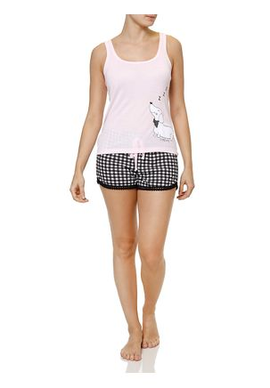 Pijama-Curto-Feminino-Rosa-preto