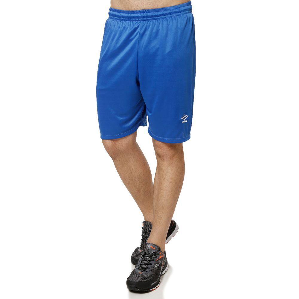 4b029cb511 Calção de Futebol Masculino Umbro Azul branco - Lojas Pompeia