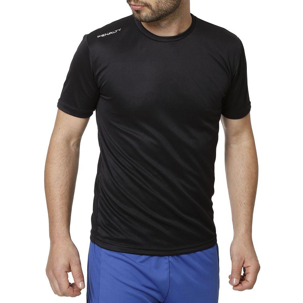 5480daf7b1fd7 Camiseta Esportiva Masculina Penalty Preto - Lojas Pompeia