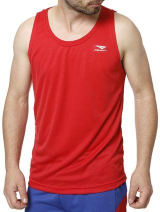 Camiseta Regata Esportiva Masculina Penalty Vermelho - Lojas Pompeia 7aef42f4816