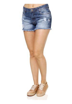 Short-Jeans-Feminino-Azul-Bordado