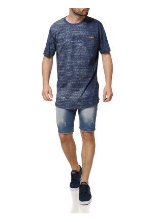 Camiseta-Manga-Curta-Masculina-Dixie-Azul