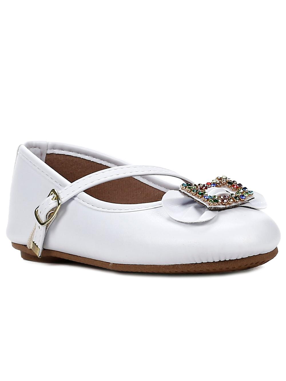 e78ff82514 Sapato Para Bebe Menina - Branco - Lojas Pompeia