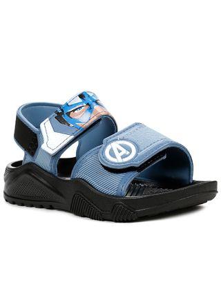Sandalia-Avengers-Infantil-Para-Menino---Preto-azul