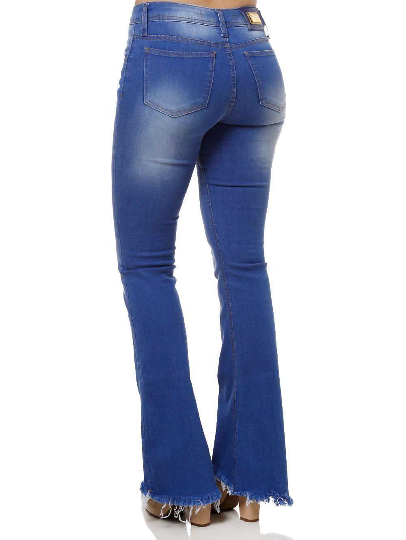 b102ca50b Calça Jeans Feminina Azul - Lojas Pompeia