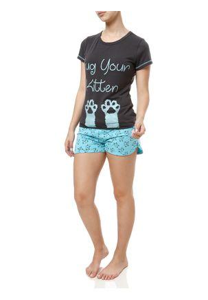 Pijama-Curto-Feminino-Cinza-azul
