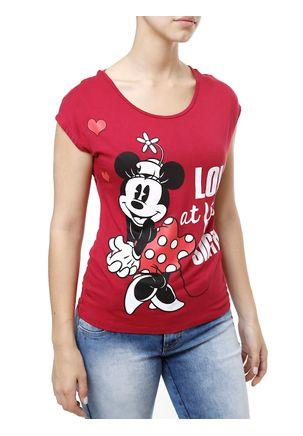Blusa-Manga-Curta-Feminina-Disney-Rosa