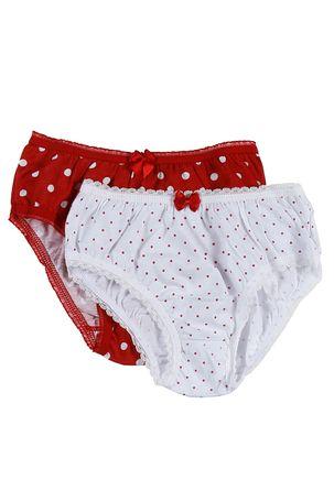 Kit-com-02-Calcinhas-Infanto-Juvenil-Para-Menina---Vermelho-branco