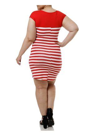 Vestido-Curto-Plus-Size-Feminino-Vermelho