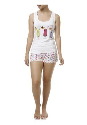Pijama-Curto-Feminino-Branco