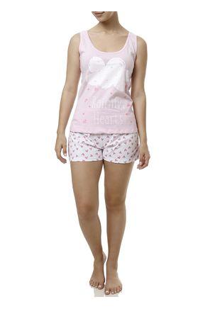 Pijama-Curto-Feminino-Rosa-branco