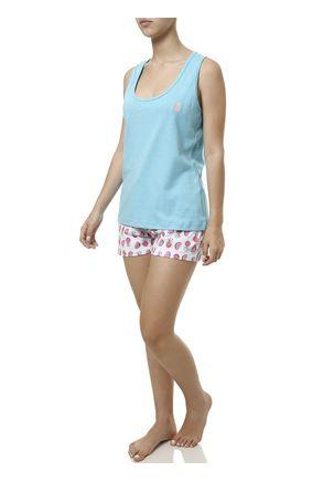 Pijama-Curto-Feminino-Branco-azul-