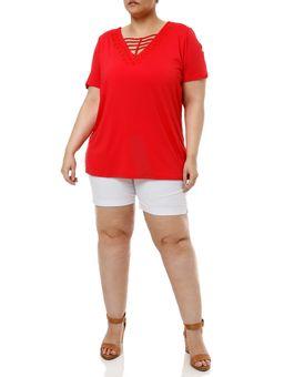 Blusa-Manga-Curta-Plus-Size-Feminina-Vermelho