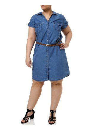 Vestido-Curto-Jeans-Plus-Size-Feminino-Azul