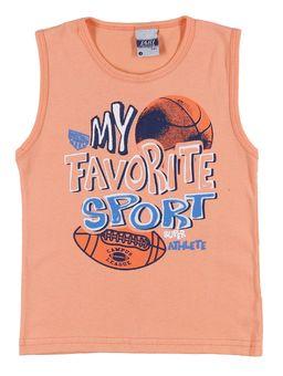 Camiseta-Regata-Infantil-Para-Menino---Laranja