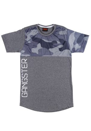 Camiseta-Manga-Curta-Juvenil-Para-Menino-Gangster-Cinza