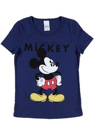 Camiseta-Manga-Curta-Disney-Juvenil-para-Menina---Azul