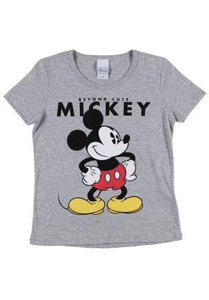 Camiseta-Manga-Curta-Disney-Juvenil-para-Menina---Cinza