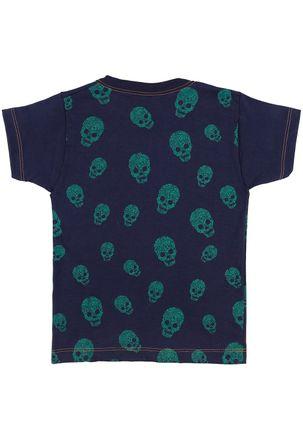 Camiseta-Manga-Curta-Juvenil-Para-Menino---Azul