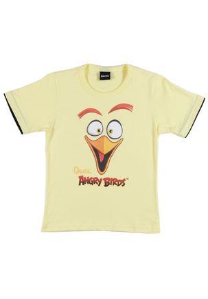 Camiseta-Manga-Curta-Angry-Birds-Infantil-para-Menino---Amarelo