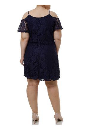 Vestido-Curto-Plus-Size-Feminino-com-Renda-Azul-marinho