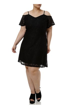 Vestido-Curto-Plus-Size-Feminino-com-Renda-Preto