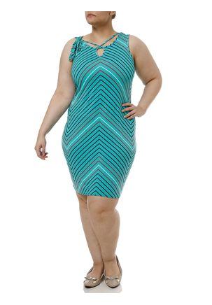 Vestido-Curto-Plus-Size-Feminino-Verde