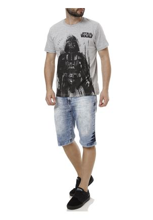 Camiseta-Manga-Curta-Masculina-Star-Wars-Cinza