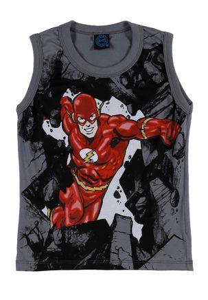 Camiseta-Regata-Infantil-Para-Menino-Justice-League-Cinza