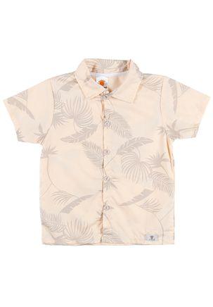Camisa-Manga-Curta-Infantil-Para-Menino---Bege