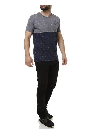 Camiseta-Manga-Curta-Masculina-Cinza-azul-marinho