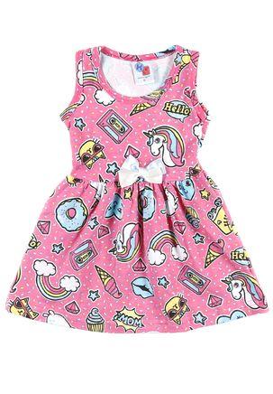 Vestido-Infantil-Para-Bebe-Menina---Rosa