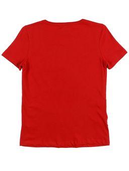 Camiseta-Manga-Curta-Juvenil-Para-Menina-Disney-Vermelho