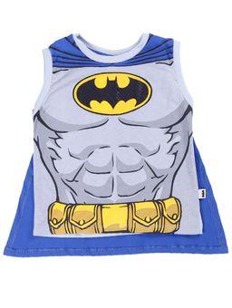 Camiseta-Regata-Batman-Infantil-Para-Menino---Cinza